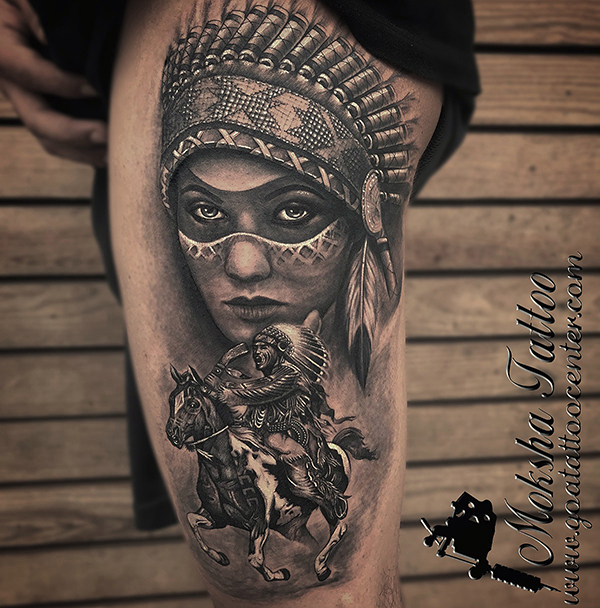 Red-Indian-Tattoo-desing