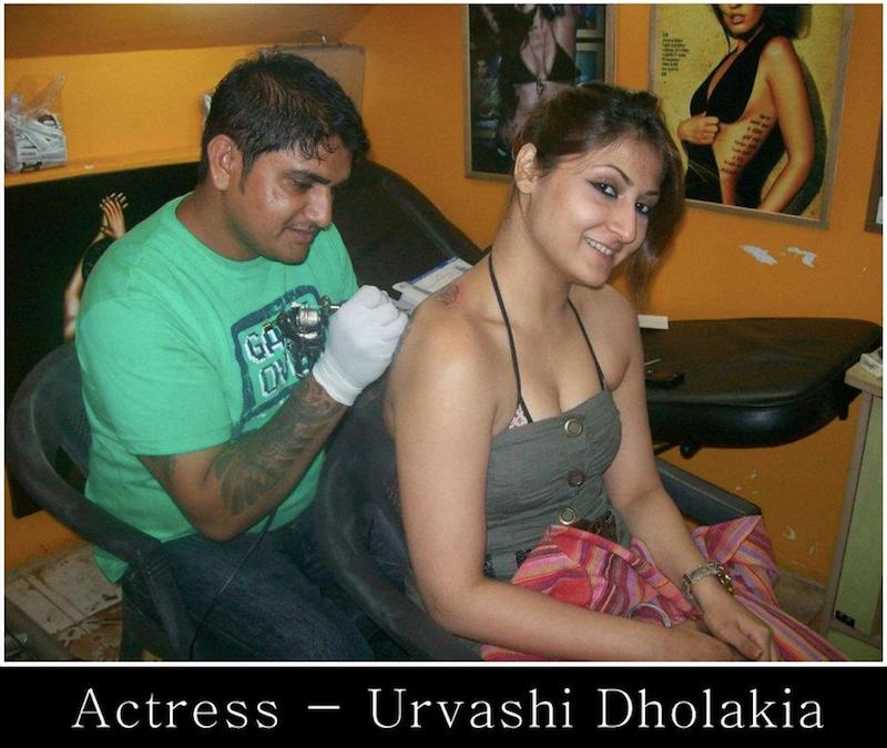 Astress Urvashi Dholakia Moksha tattoo