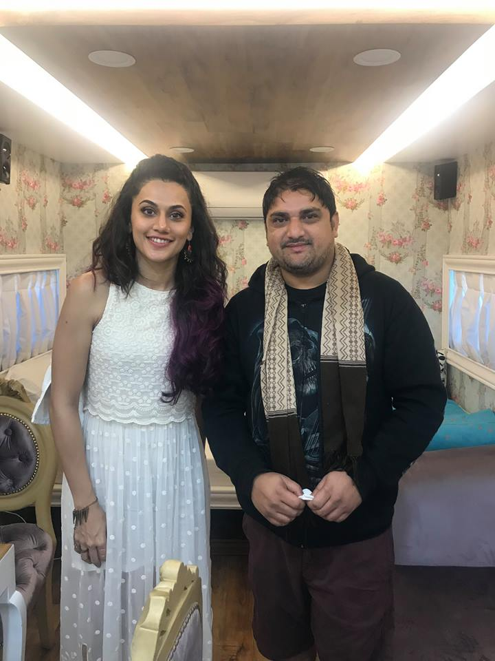 Tattooing a celebrity Tapsee Pannu By Best Tattoo Artist Goa.