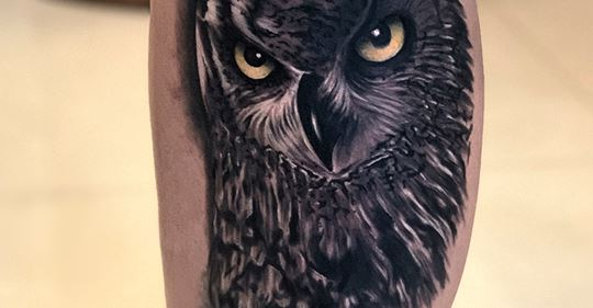 Owl tattoo Done By Mukesh Waghela At Moksha Tattoo Studio Goa India