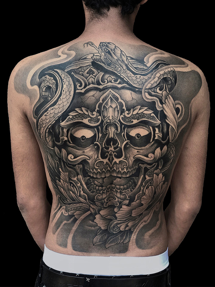 Japanese Oriental Full Back Tattoo